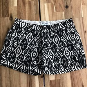 Old Navy Black and White Shorts